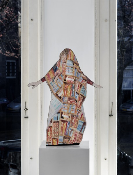 Illusiönchen, gouache on paper and cardboard, 50 cm x 25 cm, 2020, Photo: Gert-Jan van Rooij
