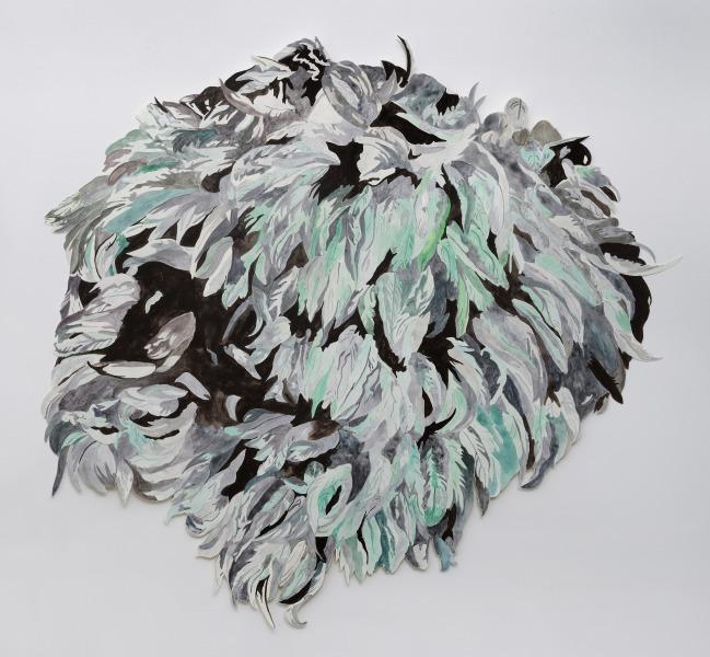 Heap, gouache on paper, 100 cm x 100 cm, 2020, Photo: Gert-Jan van Rooij