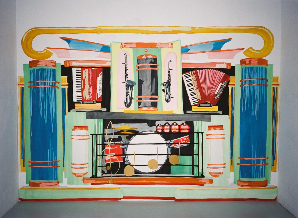 Tintamarre, collage, gouache on paper, 2m x 3m, 2016